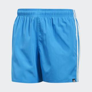 Shorts de Baño 3 Tiras Bright Blue / Off White CV5192