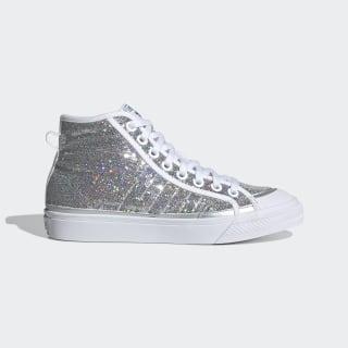 Nizza High Shoes Silver Metallic / Cloud White / Core Black FW9944