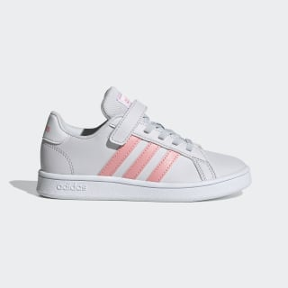 Grand Court Schoenen Dash Grey / Glory Pink / Cloud White EG6737