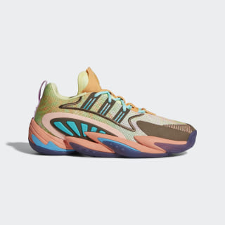 Chaussure Crazy BYW 2.0 Pharrell Williams Yellow Tint / Chalk Coral / Trace Purple FU7369