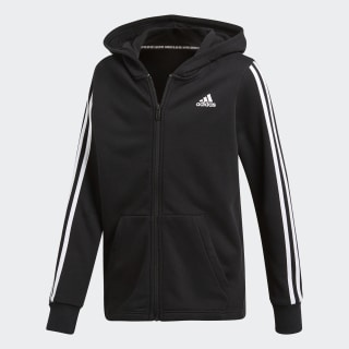 3 Stripes Full Zip Hoodie Black / White DV0819