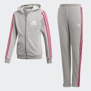 Hooded Track Suit Medium Grey Heather / Real Magenta / White DV0839