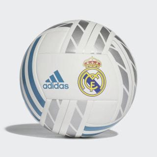 Balón Real Madrid White / Vivid Teal / Silver Metallic BQ1397