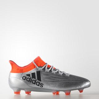 Zapatos de fútbol para pasto natural X 16.1 Silver Metallic / Core Black / Solar Red S81939