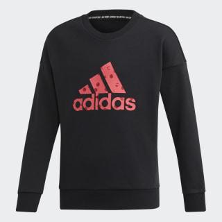 Sudadera Must Haves Badge of Sport Black / Real Pink ED4619