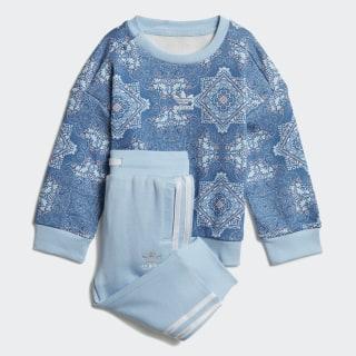 Zestaw z bluzą z zaokrąglonym dekoltem Culture Clash Multicolor / Clear Sky / White DV2324