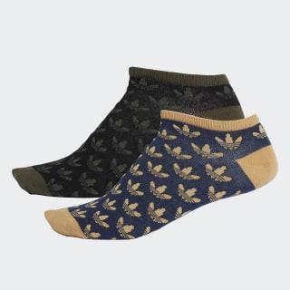 Trefoil Liner Socks 2 Pairs Black / Collegiate Navy DV1907