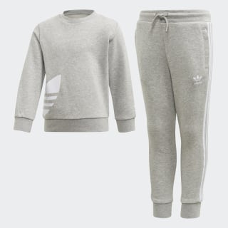 Big Trefoil Crew Set Medium Grey Heather / White FT8802