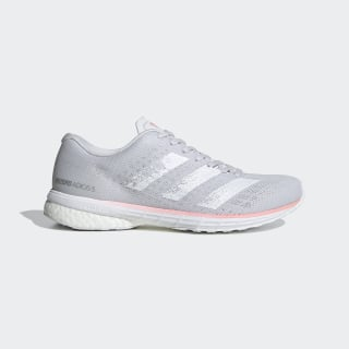 Adizero Adios 5 Schoenen Dash Grey / Cloud White / Glory Pink EG1180