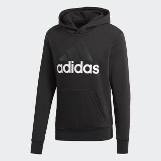 Essentials Linear Pullover Hoodie Black / White S98772