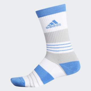 Linear Colorblock Crew Socks Easy Blue / White DP1632
