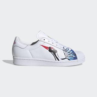 Sapatos Superstar Clean Cloud White / Cloud White / Gold Metallic FW5351