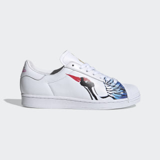 Superstar Clean Shoes Cloud White / Cloud White / Gold Metallic FW5351