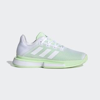 Кроссовки для тенниса SoleMatch Bounce ftwr white / ftwr white / glow green G26790