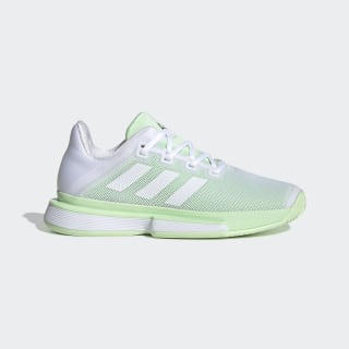 SoleMatch Bounce Shoes Cloud White / Cloud White / Glow Green G26790