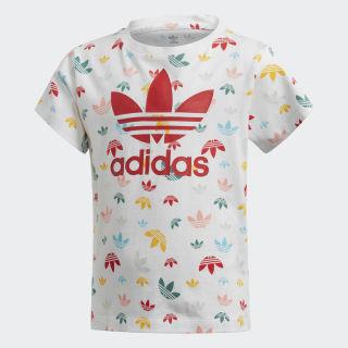 Tričko White / Multicolor / Lush Red FM4939