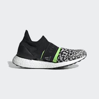 Кроссовки для бега Ultraboost X 3D black-white / core white / solar green G28336