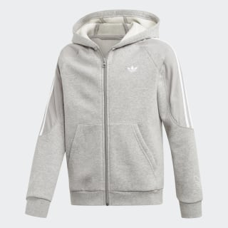 Veste à capuche Outline Medium Grey Heather / White ED7857