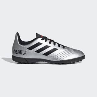 Zapatos de Fútbol Predator Tango 19.4 Césped Artificial Silver Metallic / Core Black / Hi-Res Red G25825
