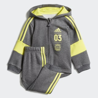 Флисовый спортивный костюм dark grey heather / shock yellow DV1274