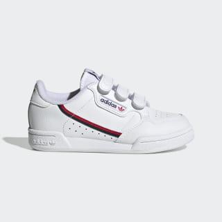 Continental 80 sko Cloud White / Cloud White / Scarlet EH3222