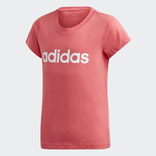 Playera Yg E Lin REAL PINK S18/white EH6172