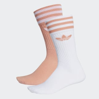 Solid Crew Socks 2 Pairs Dust Pink / White DW3935