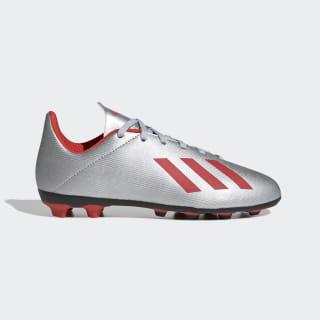 Calzado de Fútbol X 19.4 Multiterreno Silver Metallic / Hi-Res Red / Cloud White F35362