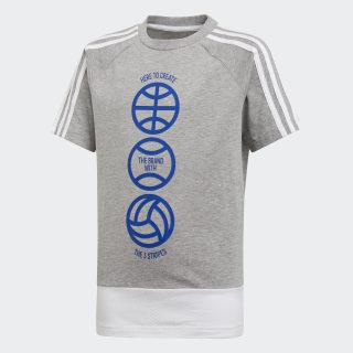 Camiseta YB SID CB TEE medium grey heather / white / collegiate royal DV1698