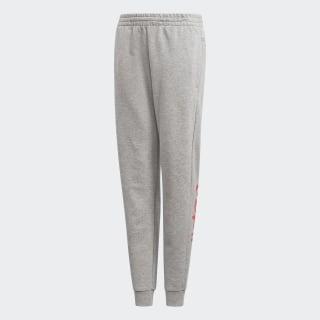 Pantaloni Linear Medium Grey Heather / Real Pink EH6158