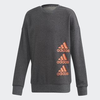 Must Haves Crew Sweatshirt Dark Grey Heather / Signal Coral FP8928