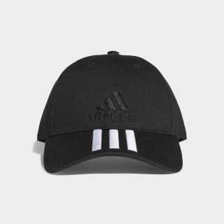 Gorra 3 Tiras Classic Six-Panel BLACK/BLACK/WHITE S98156