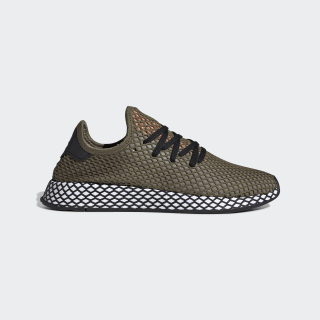 Deerupt Runner Shoes Green / Core Black / Easy Orange BD7894