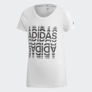 Футболка для фитнеса Font white / black ED6316