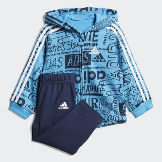 Conjunto Jogger Graphic Fleece Blue /  Collegiate Navy  /  White DV1246