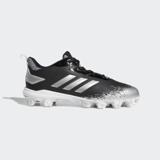 Adizero Afterburner V MD Cleats Core Black / Silver Metallic / Cloud White CG5235