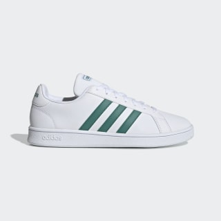 Grand Court Base Shoes Cloud White / Active Green / Grey EE7905