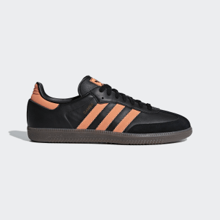 Samba OG Shoes Core Black / Hi-Res Orange / Gold Met. B75804