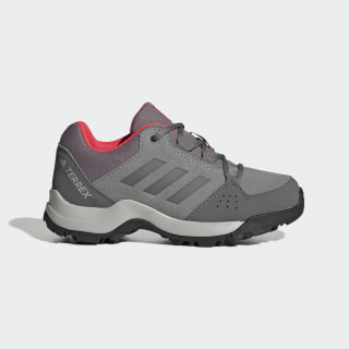 Детские кроссовки для хайкинга Terrex Hyperhiker Low Leather grey three f17 / grey three f17 / shock red EF2537