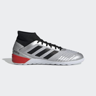 Calzado de Fútbol Predator Tango 19.3 Bajo Techo Silver Metallic / Core Black / Hi-Res Red F35614