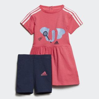 ชุดเสื้อและกางเกง Summer Real Pink / White ED1156