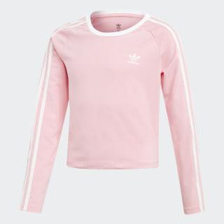 Camiseta Cropped 3 bandas Pink /  White DW9299