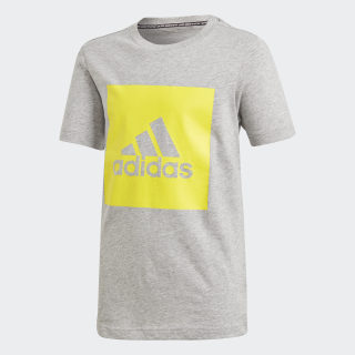 Must Haves Tee Medium Grey Heather / Shock Yellow DV0810