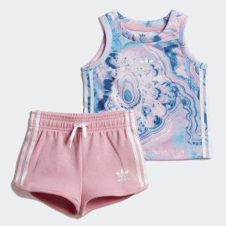 Conjunto camiseta y pantalón corto Marble Multicolor / White DV2321