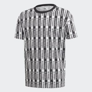 T-shirt Allover Print White / Black FM4395