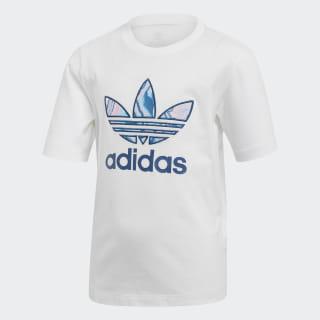 Camiseta Trefoil Marmorizada White / Multicolor DV2342