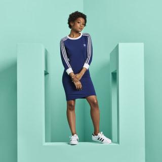 3-Streifen Kleid Dark Blue DV2609