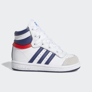 Top Ten Hi Schuh Cloud White / Dark Blue / Red M25303