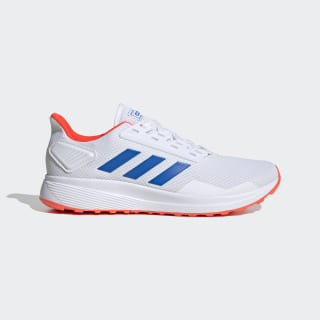Zapatillas Duramo 9 Cloud White / Glow Blue / Solar Red EG8665