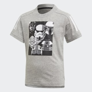 Camiseta Star Wars Medium Grey Heather / Black FM2870